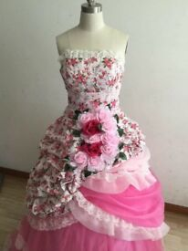 Flower ball gown size 10