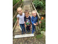 Nanny for 3 adorable children aged 4,5,6 before school and after school hours occasional weekends.