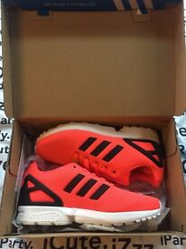 NEW Adidas ZX Flux with Tags & Box - Salmon Pink - Women's UK size 4 / EU size 37