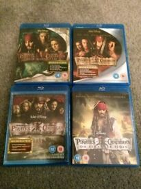 Pirates of Caribbean Blu Ray box set