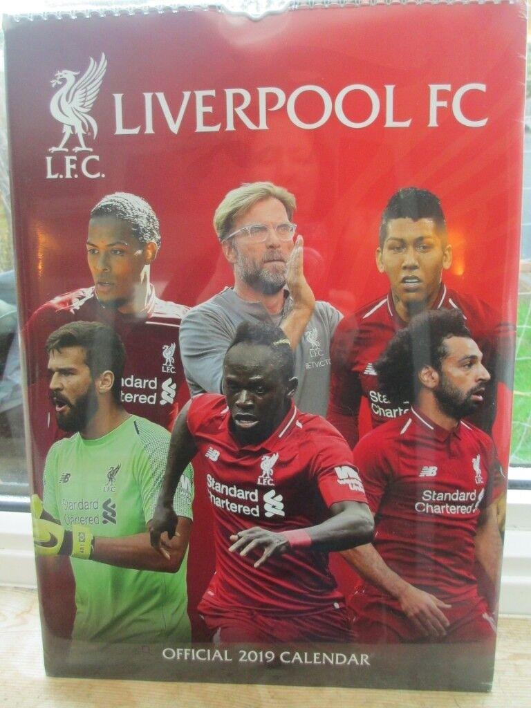 ba785d5a4 Liverpool fc unopened 2019 calendar
