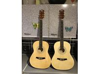 2 x acoustic guitars £50 cash