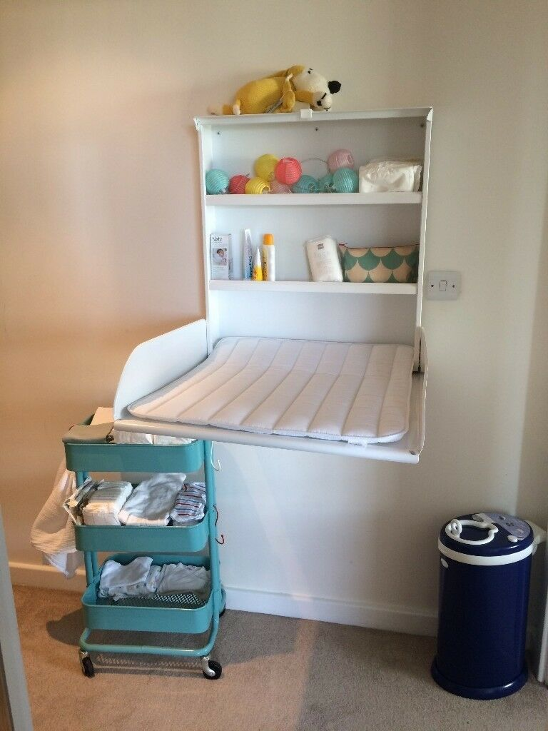 - Wall-mounted Fold-up Baby Changing Table (ByBo Design, Pippi