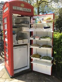Phonebox unit for rent currently salad bar. fully kitted out electricity, fridge sink. 2mins Holborn