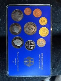 FRG Munich Bavarian State Mint Proof 1980 Coin Collection