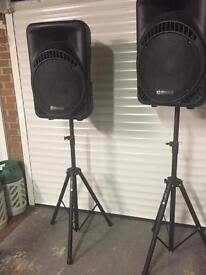 QTX sound 800 watt PA system for sale