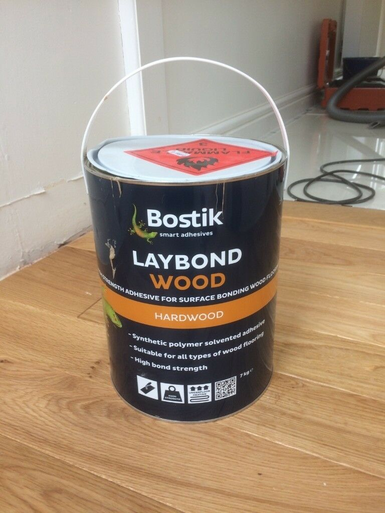 BOSTICK LAYBOND WOOD FLOOR ADHESIVE APPROX 2 5KG REMAINING ENOUGH FOR 2 5M2  | in Morpeth, Northumberland | Gumtree