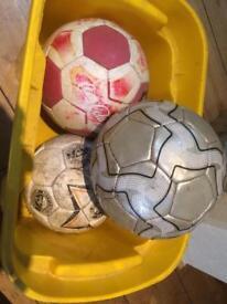 3 small footballs