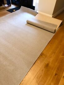 Carpet - unused fitted carpet remnant silver grey - Cormar brand