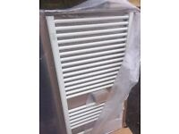 FLOMASTA FLAT LADDER TOWEL RADIATOR WHITE 1200 X 600MM, NEW IN BOX, 2 available
