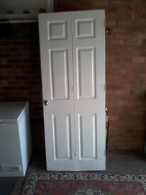 Wooden Bifolding White Door