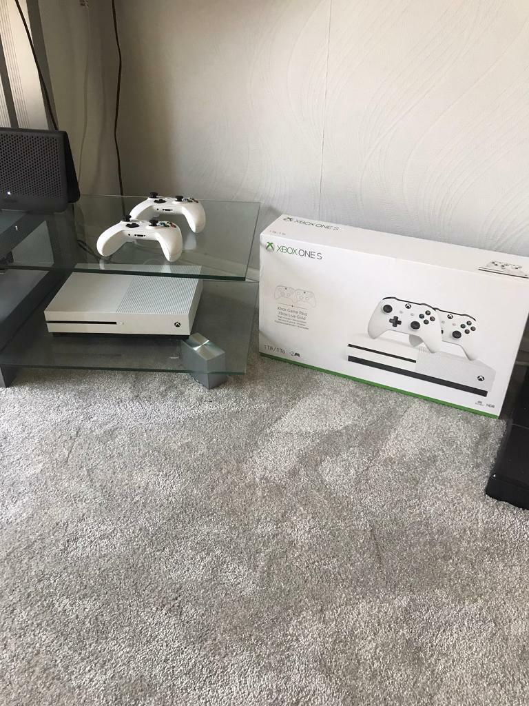 Xbox one S with two wireless controllers