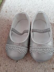 Monsoon Toddler Silver Pumps