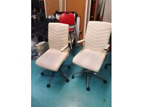 4 cream office/meeting/conference/boardroom chairs £50 each or 5 for £200 w/ blue hue