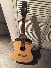 Left hand acoustic guitar
