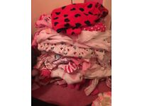 Massive bundle baby girls sleepsuits and vests 0 3 months