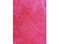 Carpet, thick red pile
