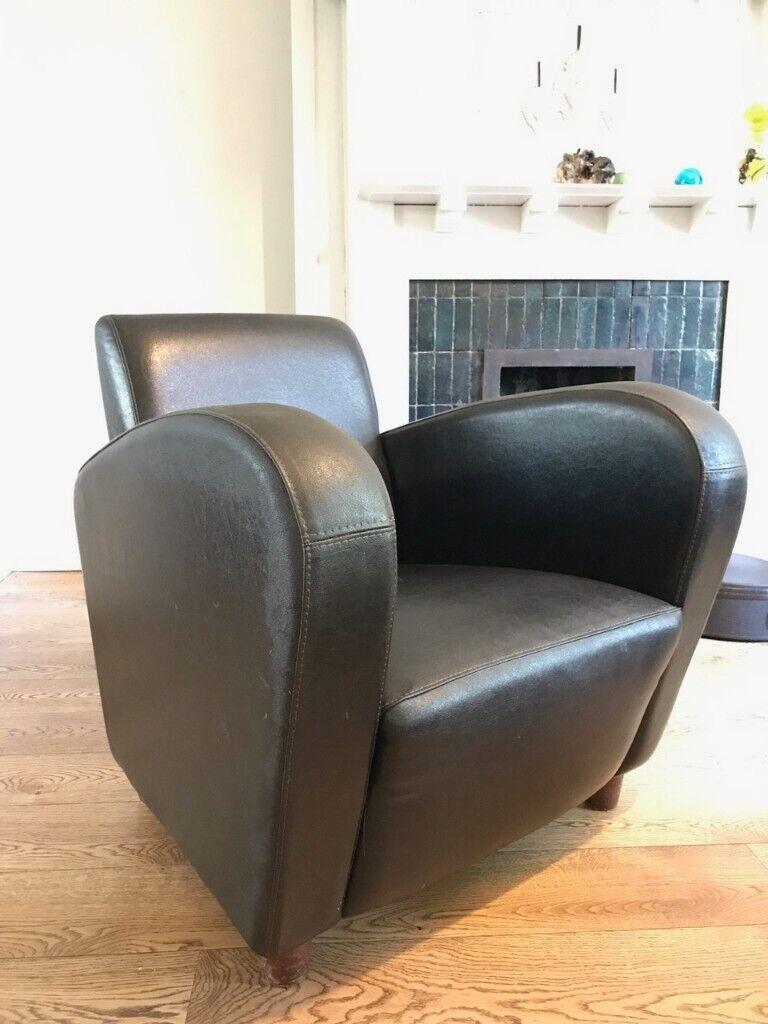 Strange Brown Leather 1930S Style Armchair In Tooting London Gumtree Frankydiablos Diy Chair Ideas Frankydiabloscom