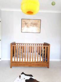 Beautiful Silver Cross Cot Bed