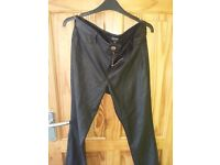 River Island Black leather Trousers £10.00