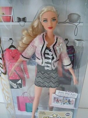 Rare 2011 Gorgeous Star Doll Barbie Blonde Girl With A Tweed Blouse     100 Card