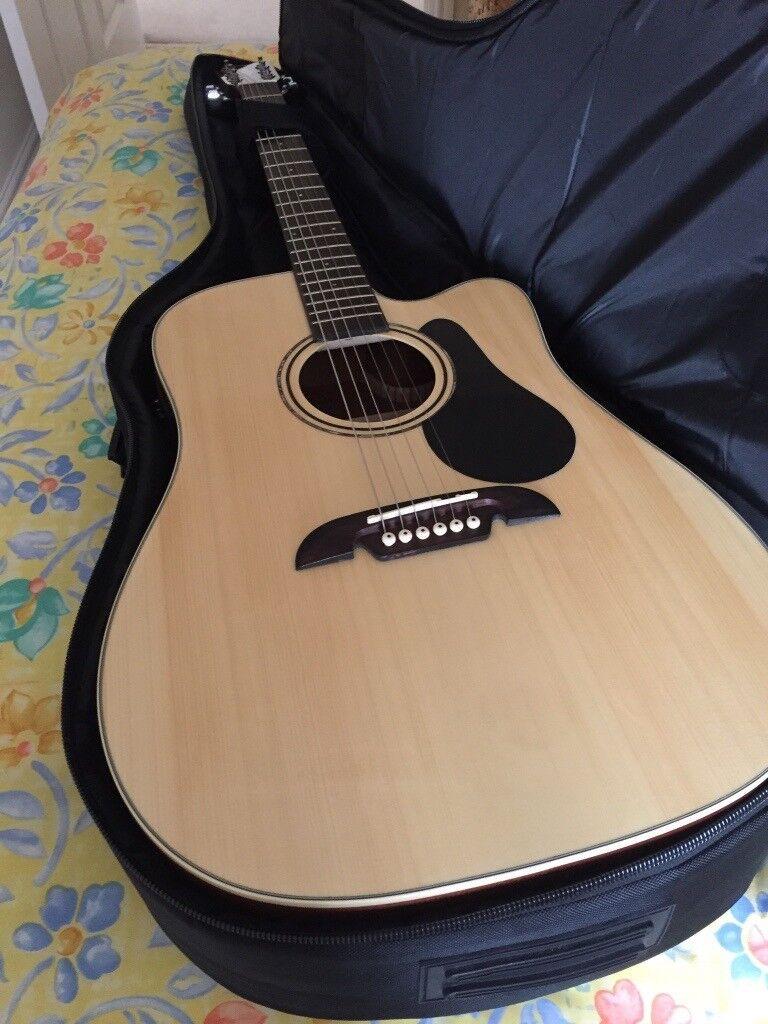 Alvarez Electro-acoustic guitar and Blackstar 30 tvp amplifier