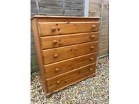 Solid pine chest of drawers. Possible delivery