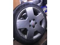 "5 x 17"" alloy wheels 5 stud came off a ford transit connect"
