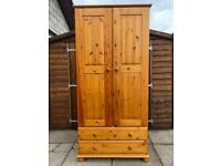 Double Pine Wardrobe - Can Deliver
