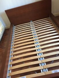 King wooden bed frame -IKEA Buyer to collect £40.00