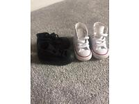 Size 3 baby Converse trainers