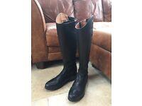 "TREDSTEP DONATELLO Dressage Riding Boots Regular Height 19"" Slim Calf 14 3/4"" size UK 9 Black"