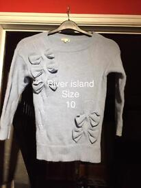 Ladies river island Top size 10