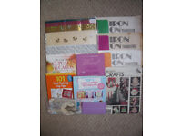 Collection of various craft materials/books/paper pattern. £8 ovno. Willing to separate.