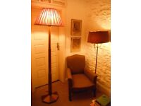 Art Deco Style -Standard Lamp with Shade. * Vintage /Shabby Chic Furniture.*