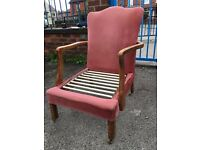 Vintage / Antique Armchair - Bedroom Chair - Nursing Chair - Fireside Chair - Project - Reduced