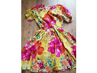 COLOURFUL SUNNY SUMMER DRESS - NEXT - AGE 16 YRS OR SM WOMAN - ELASTICATED WAIST