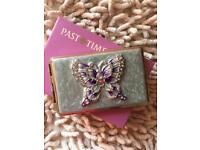 Past Times Victorian Address Book/Card Holder-New