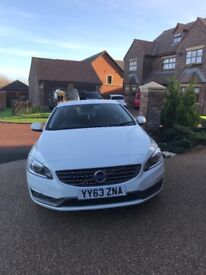 White Volvo S60 Buisness Edition Sat Nav sensors Bluetooth '63' reg full MOT great condition £8,500