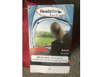 ReadyBed All-in-one Inflatable Mattress and Sleeping Bag.