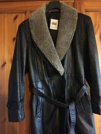 Ladies Millano designer collection leather coat
