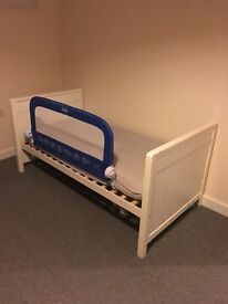 Next white star cot bed and mattress