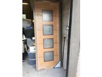 internal door with 4 glazed panes