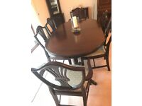 Gola Solid wood veneer Dining Table and Chairs