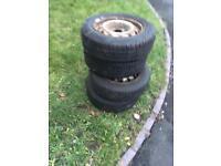 """2x 14"""" wheels Peugeot partner Citroen Berlingo"""