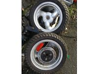 125cc scooter wheels