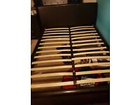 King size bed frame with 2 underbed storage draws