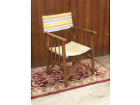 A genuine vintage directors type garden chair