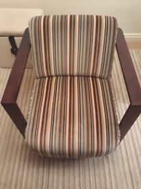 High Quality Occasional Chair Multi-Coloured Striped Quality Fabric £95 ONO