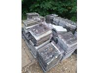 (80p each) Used Redland Renown roof tiles